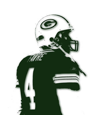Green Bay Packers Bret Favre 2 Print by Joe Hamilton