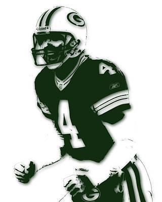 Green Bay Packers Bret Favre Print by Joe Hamilton