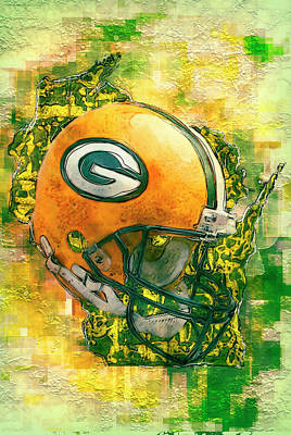 Kicked Painting - Green Bay Packers by Jack Zulli