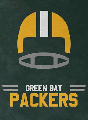 Green Bay Packers Vintage Art Print by Joe Hamilton