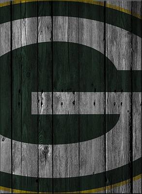 Green Bay Packers Wood Fence Print by Joe Hamilton