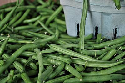 Vegatables Photograph - Green Beans by William Jones