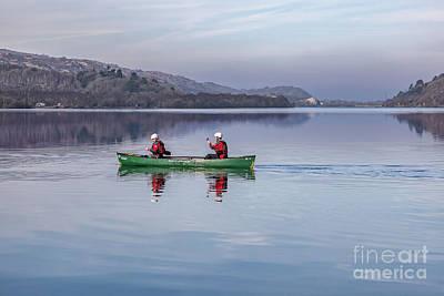 Canoe Photograph - Green Canoe by Adrian Evans