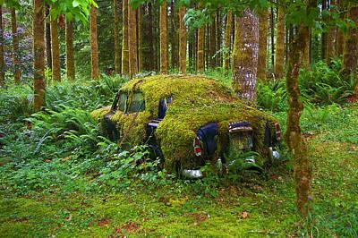 Antic Car Photograph - Green Car by Ulrich Burkhalter