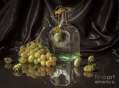 Green Couplet Autumn  Original by Lyudmila Prokopenko