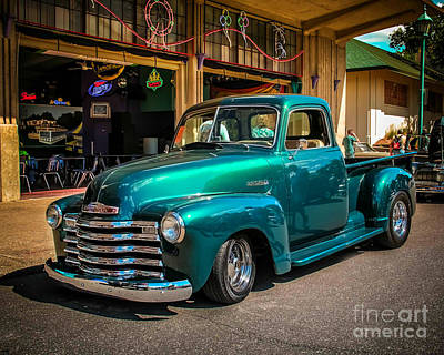 Classic Truck Photograph - Green Dreams by Perry Webster