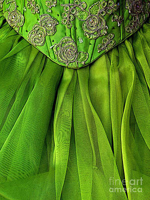 Green Frock Print by Mexicolors Art Photography