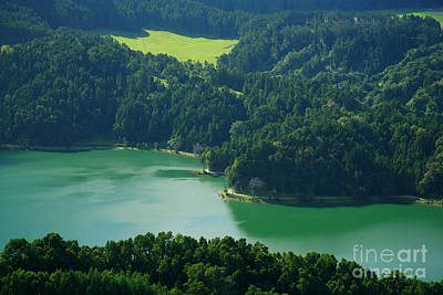 Sete Photograph - Green Lake - Azores by Gaspar Avila