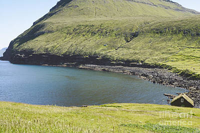 Denmark Photograph - Green Landscape On Faroe Islands. by Dani Prints and Images