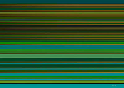 Abstract Digital Art - Green Lines 1 by Alberto  RuiZ