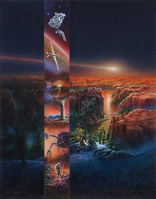 Painting - Green Mars Cover Painting by Don Dixon