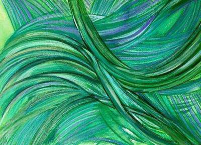 Thought Drawing - 'green Or Not At All' by Kelly K H B