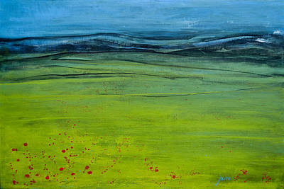Green Pastures Print by Jani Freimann