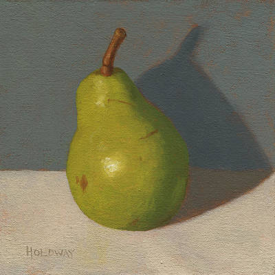 Painting - Green Pear by John Holdway