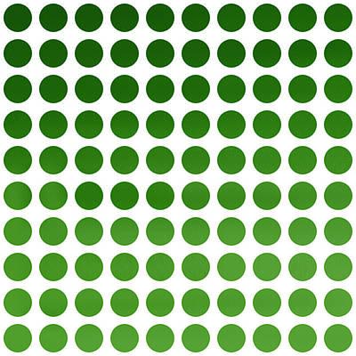 Modern Art Digital Art - Green Polka Dots by Art Spectrum