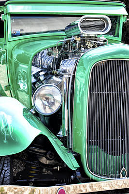 Ford Street Rod Photograph - Green Rod by Tim Gainey