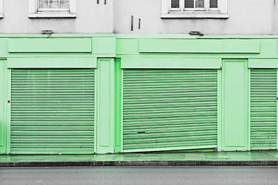 High Street Photograph - Green Shutters by Tom Gowanlock