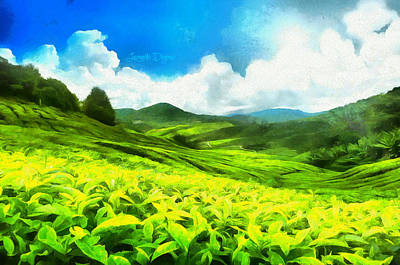 Crops Digital Art - Green Tea - Da by Leonardo Digenio