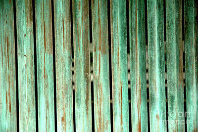 Green Texture Fence Print by Mike Lindwasser Photography