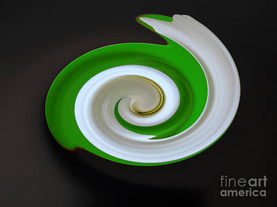 Color Green Digital Art - Green Twirl by Picture Wall Decor