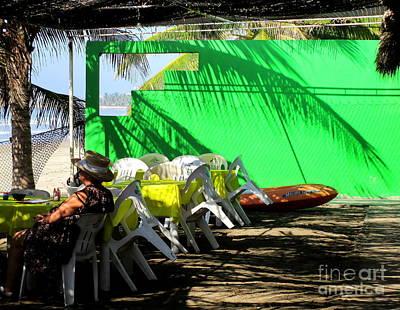 Mazatlan Photograph - Green Wall Mazatlan 2 by Randall Weidner