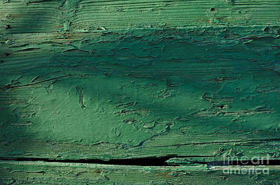 Green Wooden Boat Surface Print by Angelo DeVal