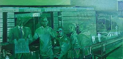 Civil Rights Painting - Greensboro Nc by Lauren Livingston