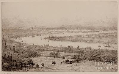 Greenwich Park R.n. Hospital London In The Distance Print by William Lionel Wyllie