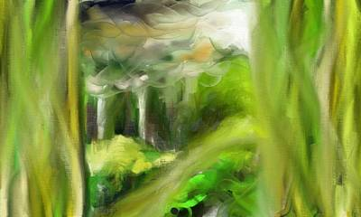 Painting - Greeny by Kevin Steven
