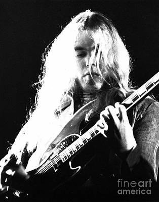 Singer Photograph - Gregg Allman 1974 by Chris Walter