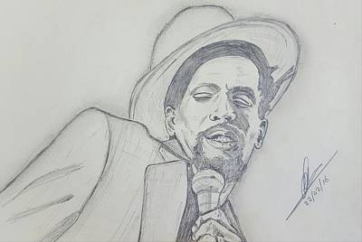 Historic Site Drawing - Gregory Isaacs by Collin A Clarke