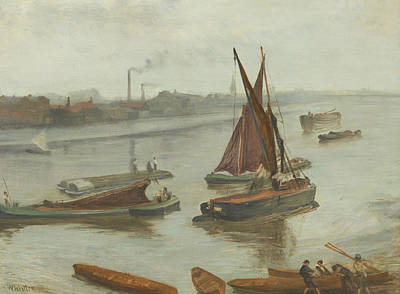 Tonalist Painting - Grey And Silver Old Battersea Reach by James Abbot McNeill Whistler