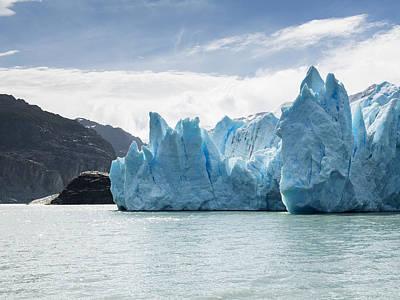 Antartica Photograph - Grey Glacier And Grey Lake, Torres Del by Keith Levit