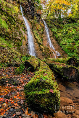 Grey Mares Tail Waterfall Print by Adrian Evans