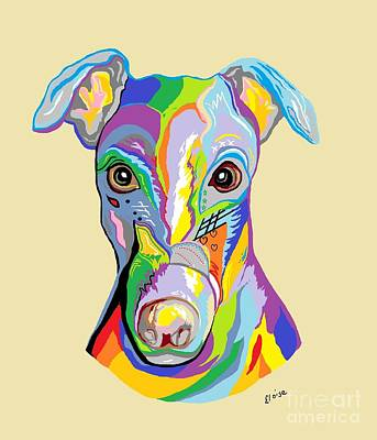 Pup Digital Art - Greyhound by Eloise Schneider