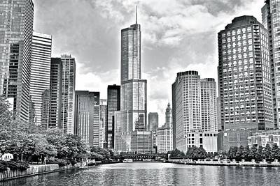 Photograph - Greyscale Of The Windy City by Frozen in Time Fine Art Photography