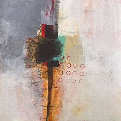 Abstract Collage Painting - Grid 11 by Jane Davies