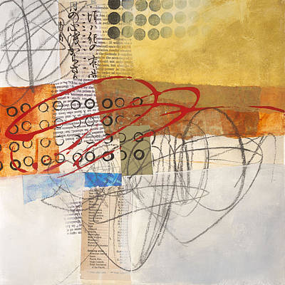 Collage Painting - Grid 12 by Jane Davies