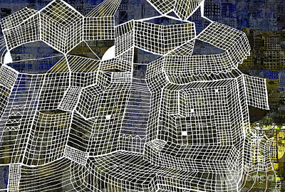 Gridlock Drawing - Gridlock by Andy  Mercer