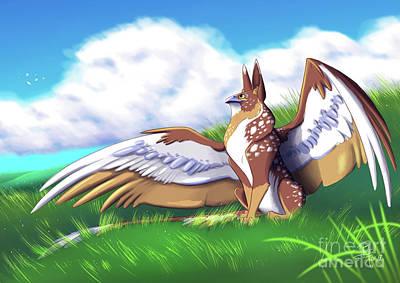 Griffon Digital Art - Griffin Tales by Rachel Sheedy