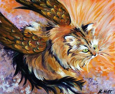 Griffon Drawing - Griffon Kitty by Katherine Nutt
