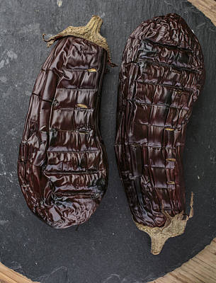 Eggplant Photograph - Grilled Aubergine by Nailia Schwarz