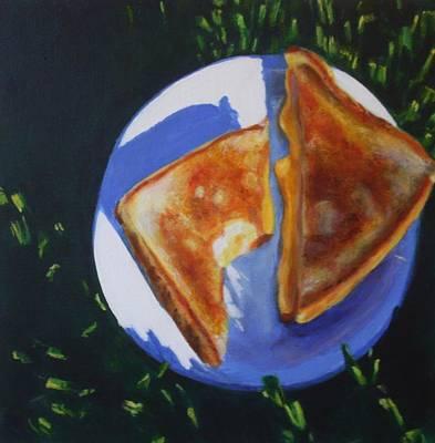 Sandwich Painting - Grilled Cheese Please by Sarah Vandenbusch