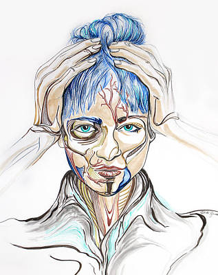 Electronic Drawing - Grimes by Heidi Jandel
