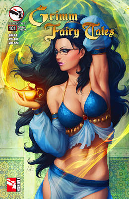 Grimm Fairy Tales - The Magic Lamp Original by Don Kuing