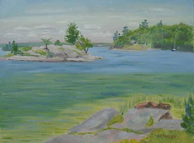 Grindstone Island Rusho Bay St Lawrence River Original by Robert P Hedden