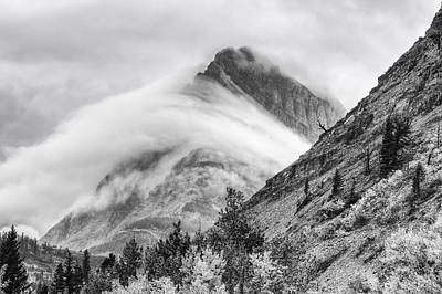 Grinnel Point Black And White Print by Mark Kiver
