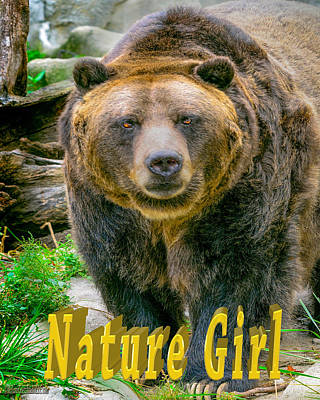 Girl Photograph - Grizzly Bear Nature Girl    by LeeAnn McLaneGoetz McLaneGoetzStudioLLCcom
