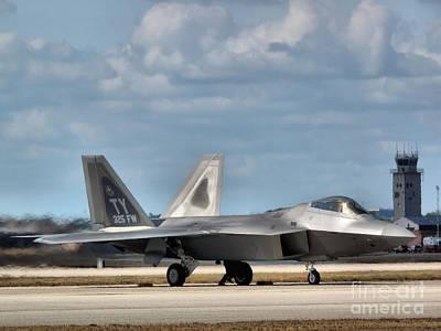 F-22 Photograph - Grounded Raptor by Arthur Herold Jr