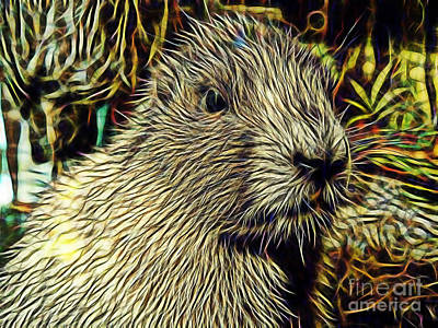 Groundhog Mixed Media - Groundhog by Marvin Blaine